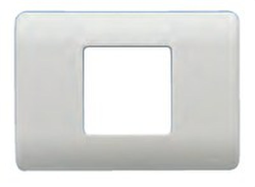 Placa con bastidor 1 ancho/ 2 estrechos en blanco