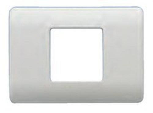Placa con bastidor 1 ancho/ 2 estrechos en plata