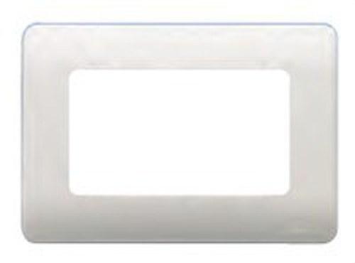 Placa con bastidor 2 anchos/ 4 estrechos en blanco