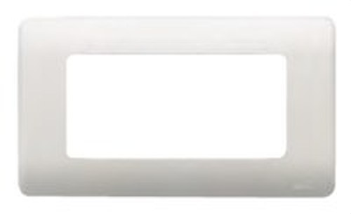 Placa con bastidor 3 anchos/ 6 estrechos en blanco