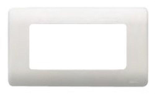 Placa con bastidor 3 anchos/ 6 estrechos en plata
