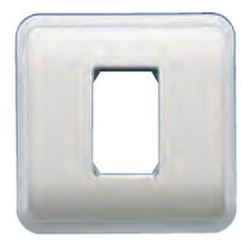 Placa con bastidor + marco 1 estrecho de color blanco