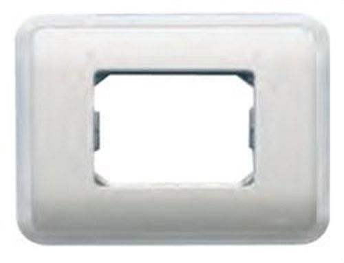 Placa con bastidor + marco 3 estrechos o 1 ancho + 1 en beige