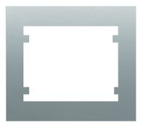 Marco 1 elemento horizontal vertical serie Iris en aluminio mercurio