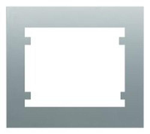Marco 3 elementos horizontal serie Iris en aluminio mercurio