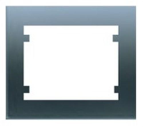 Marco 4 elementos horizontal serie Iris en acero neptuno