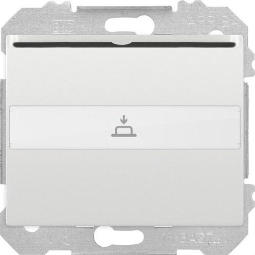 Interruptor / conmutador Iris en blanco para tarjeta con 1 microrruptor indicador luminoso