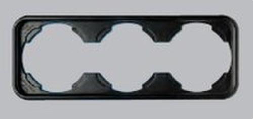 Placa 3 elementos serie Ibiza en blanco