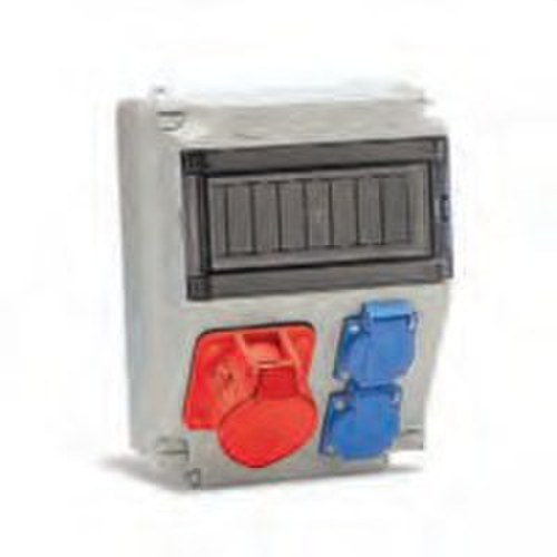 Caja con bases 16A 2P+TT lateral 3P+TT+N16A