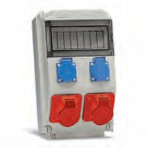 Caja para 8 módulos con 2 bases Cetact 3 P+N+T 16A 6h 380-415V