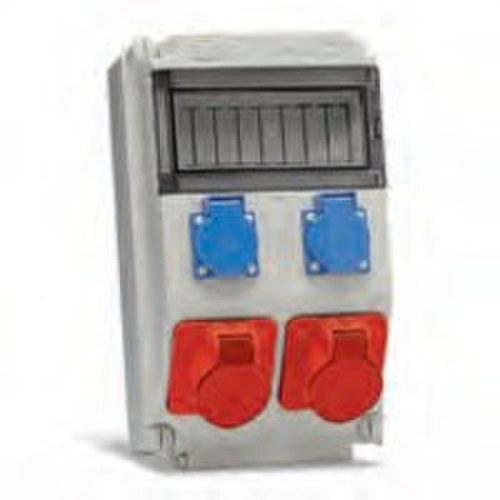 Caja para 8 módulos con 2 bases Cetact 3 P+N+T 32A 6h 380-415V