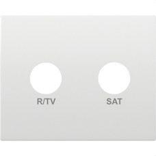 BJC 18320 Tapa para tomas R/TV-SAT 2 salidas serie Iris en blanco