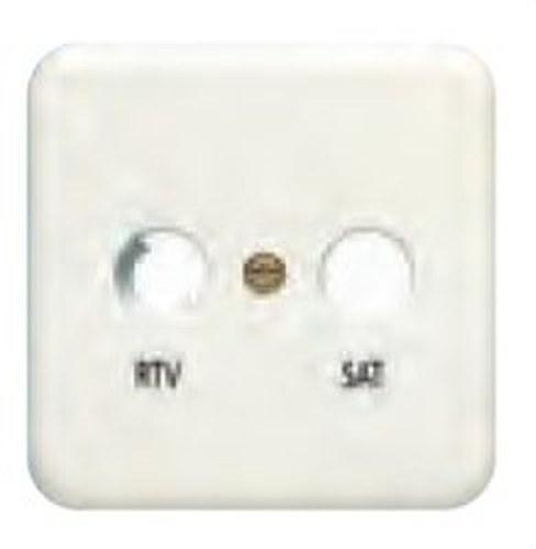 Placa toma R/TV-SAT serie Ibiza en blanco