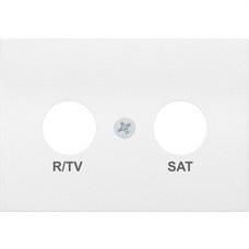 BJC 21320 Tapa R/TV-SAT serie Coral en blanco