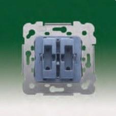 BJC 18569-X Interruptor doble de persianas con enclavamiento eléctrico y mecánico serie Iris con garras