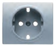BJC 22724-AF Tapa base enchufe seguridad Mega en aluminio fusión