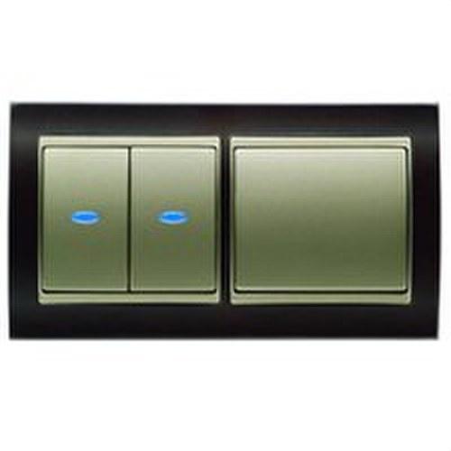 Señalizador luminoso led azul para interruptor conmutador cruzamiento y pulsador tecla ancha
