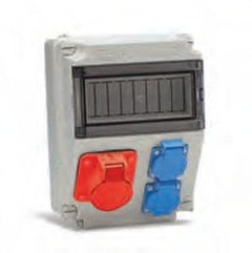 Caja 2 bases 16A 1 3P+T 16A conexión