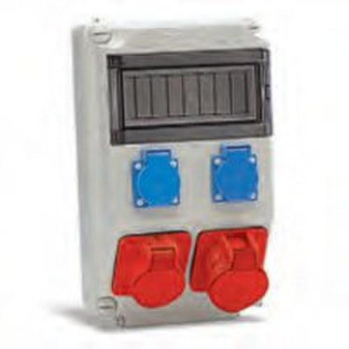 Caja 1 base 3P+TT 16A 1-3P+TT 32A conexión