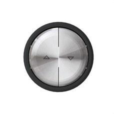NIESSEN 8644 CN Tecla interruptor persianas Skymoon cristal negro