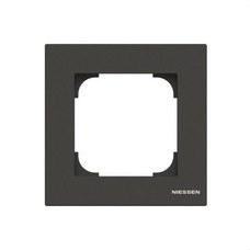 NIESSEN 8571 NS Marco de 1 elemento Sky Niessen negro soft