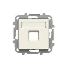 NIESSEN 8518.1 BL Tapa 1 conector con persiana Sky blanco