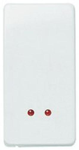 Interruptor monopolar con visor Stylo blanco alpino