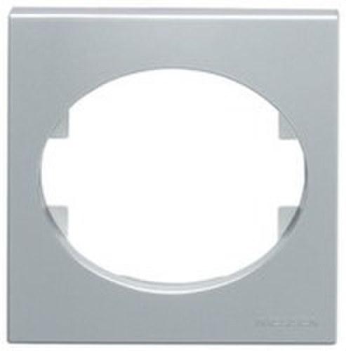 Marco 2 elementos horizontales Tacto plata
