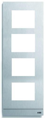 Placa de calle Welcome con 4 módulos tamaño 1/4 aluminio