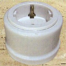 FONTINI 30-204-17-2 BASE TOMA TIERRA LATERAL PORCELANA 10A/16A-250V GARBY PACKB