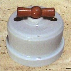 FONTINI 30-306-14-2 INTERRUPTOR PORCELANA LAMPARA M.DECORATIVA MARRON 10A/250V GARBY PACK