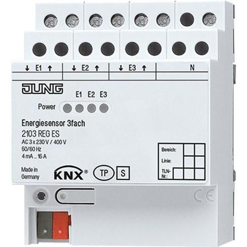 Sensor energía KNX 3 canales
