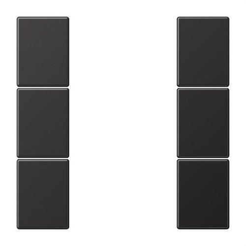 Juego teclas F50 KNX 3 fases para Serie LS dark