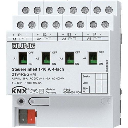 Regulador fluorescencia 4 canales 1-10V DIN