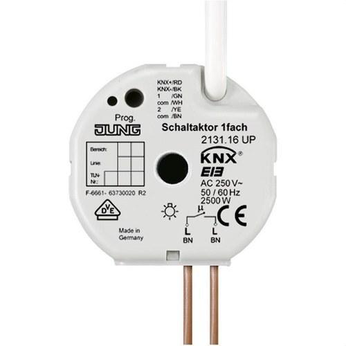 Actuador empotrable KNX 1 canal para caja universal