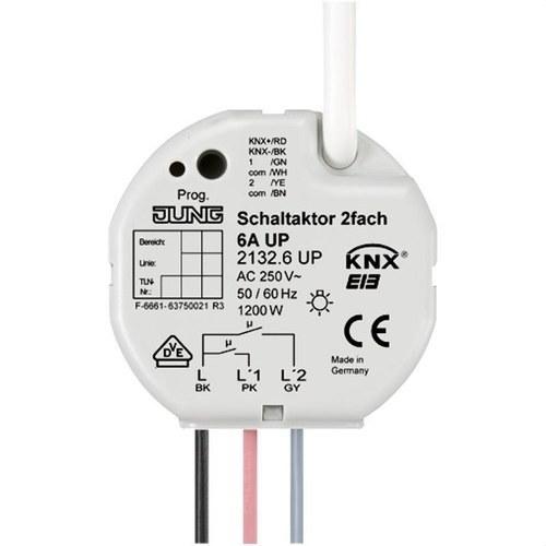 Actuador empotrable KNX 2 canales para caja universal