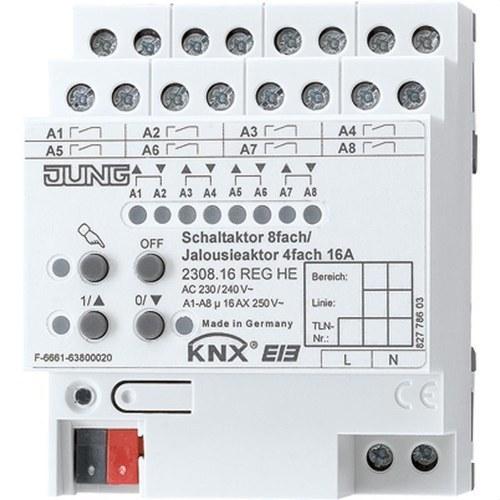 Actuador empotrable KNX 8 salidas 4 persianas seleccionable