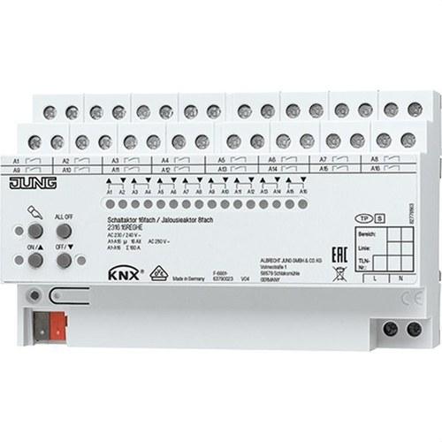 Actuador KNX 16 salidas actuador persianaS 8 canales