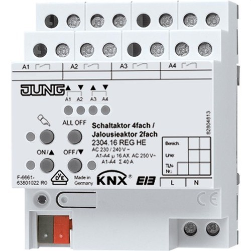 Actuador de conmutación KNX 4 salidas actuador persianas KNX 2 canales AC 230 240V~ montaje en carril DIN