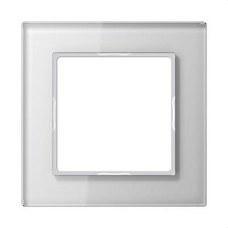 JUNG AC581GLWW Marco embellecedor 1 elemento A Creation blanco cristal