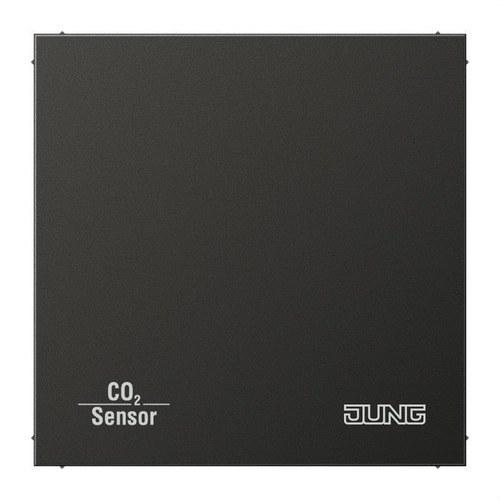 Sensor KNX calidad aire CO2 con BCU antracita