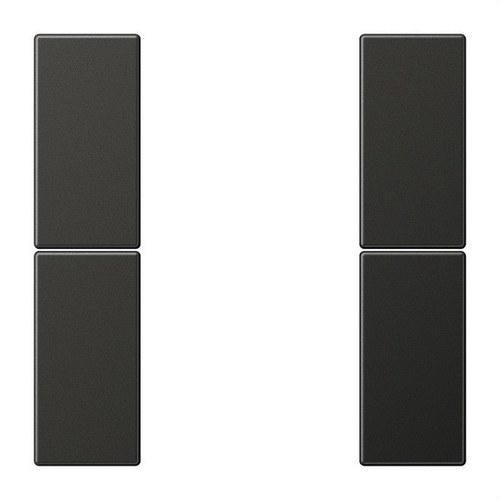 Juego teclas F50 KNX 2 fases para Serie LS aluminio lacado