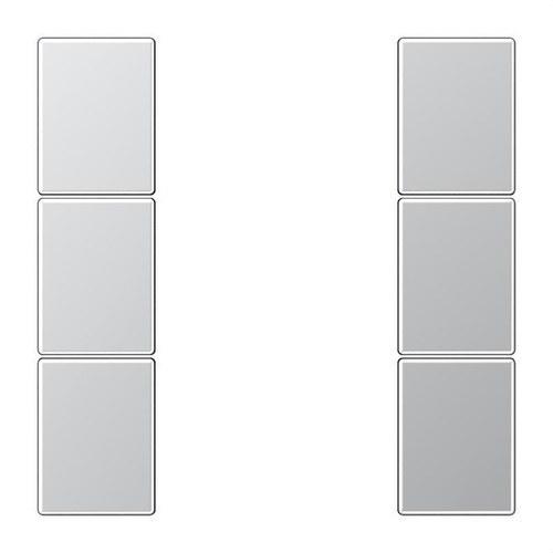 Juego teclas F50 KNX 3 fases Serie LS aluminio