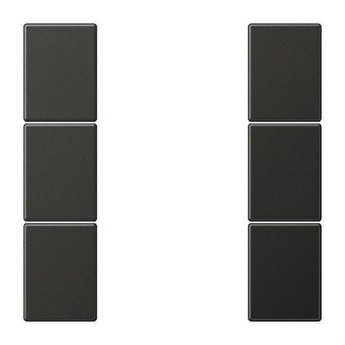 Juego teclas F50 KNX 3 fases Serie LS aluminio lacado