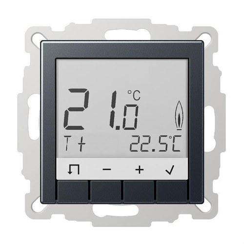 Termostato estándar Serie A con display antracita mate