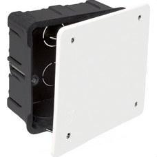 SOLERA 5362 Caja de conexión de empotrar en tabique hueco 100x100mm tornillo 12 entradas tubo diámetro