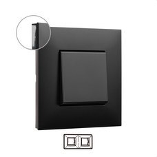 LEGRAND 741052 Placa VALENA NEXT con 2 elementos dark