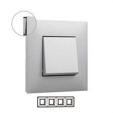 LEGRAND 741034 Placa VALENA NEXT con 4 elementos aluminio