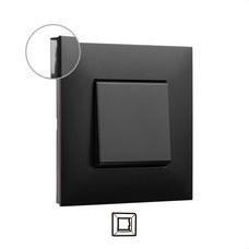 LEGRAND 741051 Placa VALENA NEXT con 1 elemento dark
