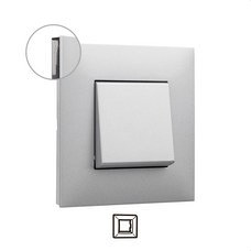 LEGRAND 741031 Placa VALENA NEXT con 1 elementos aluminio